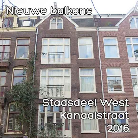 Kanaalstraat balkon - Omgevingsvergunning