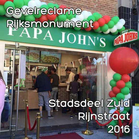 Rijnstraat gevelreclame - Omgevingsvergunning