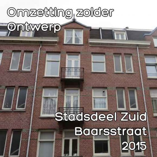 Baarsstraat 5 omzetting zolder