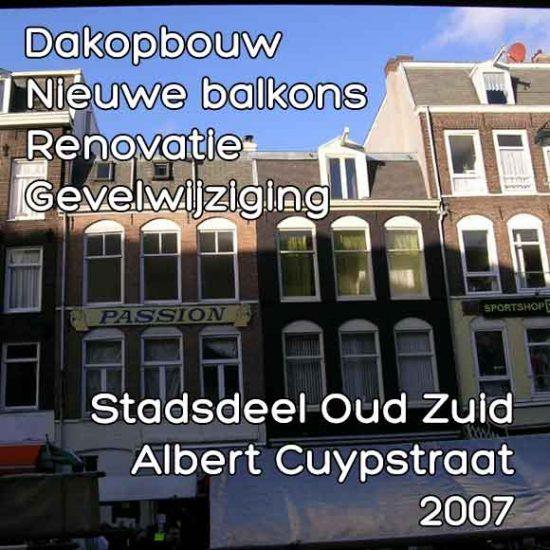 Cuypstraat 195-197, Albert Dakopbouw renovatie balkons
