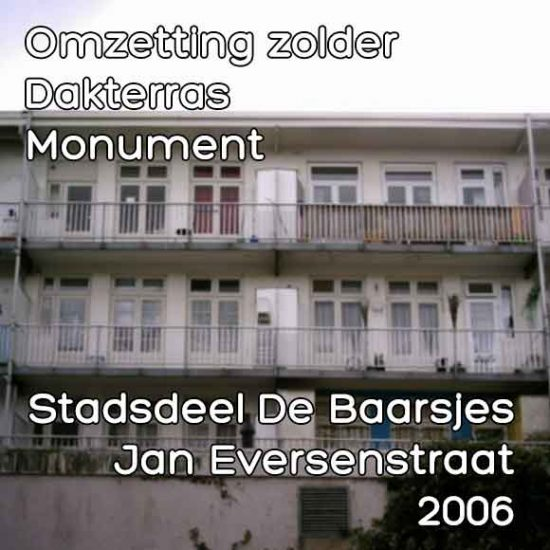 Eversenstraat 126, Jan omzetting zolder dakterras