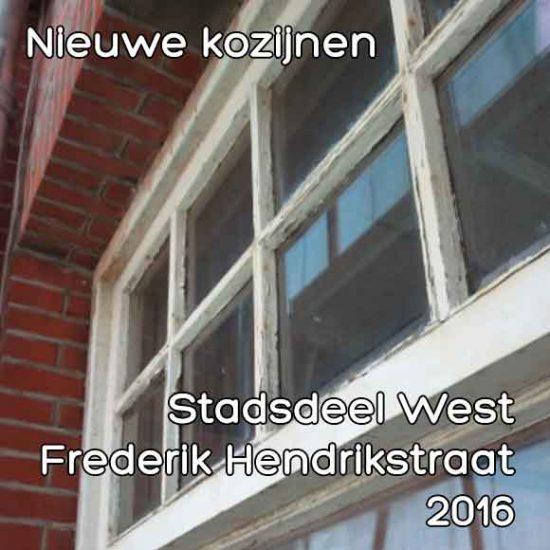 Frederik Hendrikstraat bouwvergunning nieuwe kozijnen