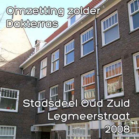 Legmeerstraat bouwvergunning omzetting zolder en dakterras