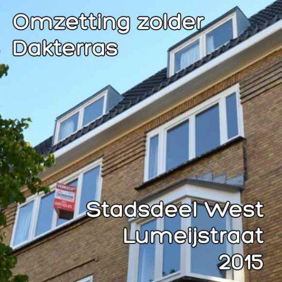 Lumeijstraat bouwvergunning omzetting zolder dakterras