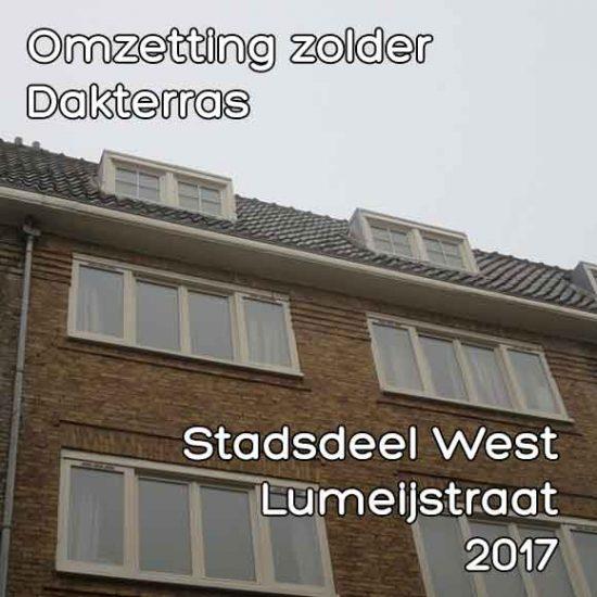 Lumeijstraat omgevingsvergunning omzetting zolder dakterras