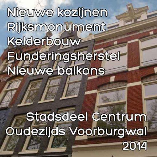 Oudezijds Voorburgwal omgevingsvergunning kelderbouw nieuwe kozijnen
