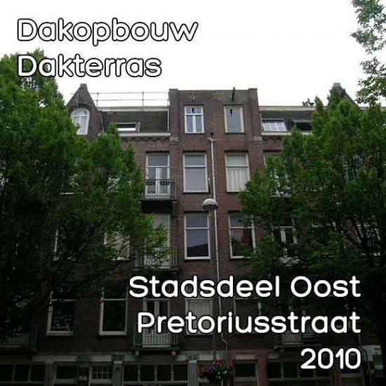 Pretoriusstraat bouwvergunning dakterras
