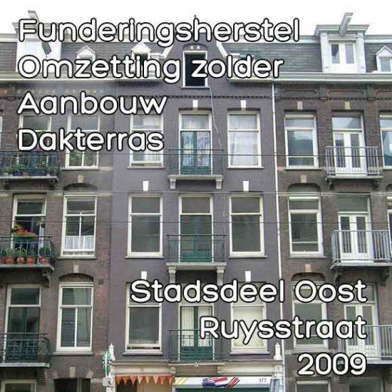 Ruysstraat omgevingsvergunning aanbouw dakterras