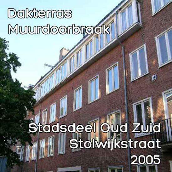 Stolwijkstraat bouwvergunning dakterras en muurdoorbraak