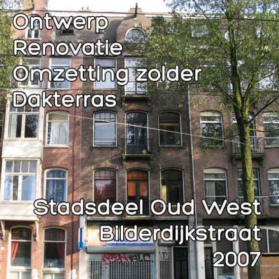 Bilderdijkstraat 11 renovatie dakterras